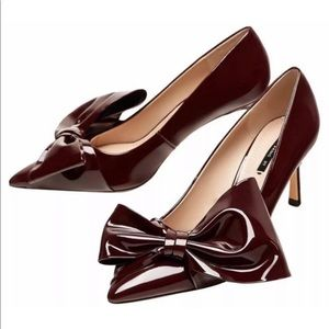 Zara now burgundy heels